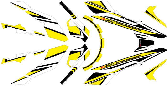 【ポイント5倍開催中!!】【クーポンが使える!】 MDF エムディーエフ ステッカー・デカール 専用グラフィックキット アタッカーモデル カラー:イエロー タイプ:コンプリートセット V-Strom 250