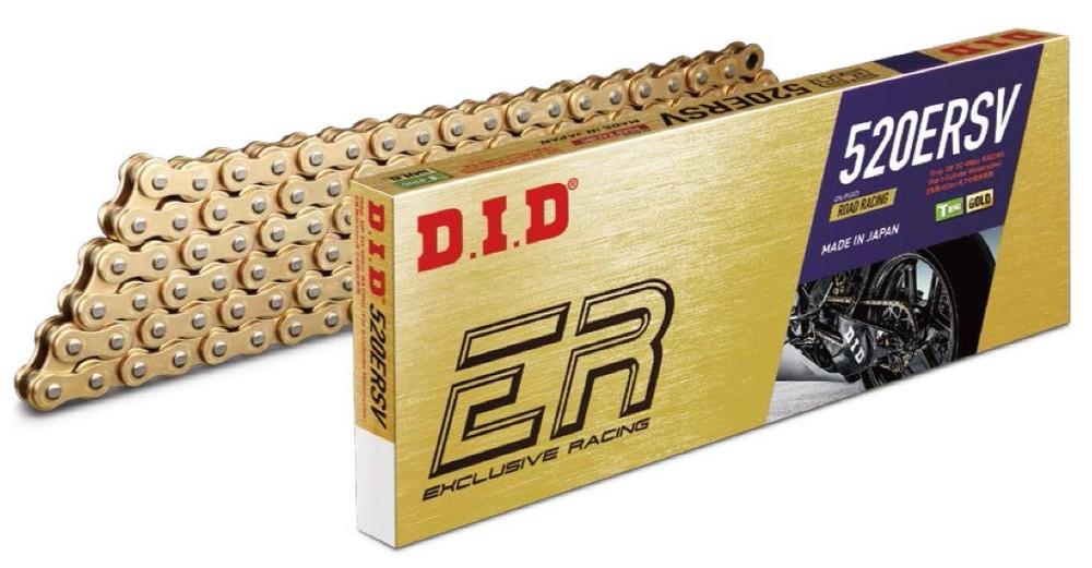 DID ダイドー ERシリーズチェーン 520ERSV ゴールド 【カシメ(ZJ)ジョイント付属】 リンク数:92
