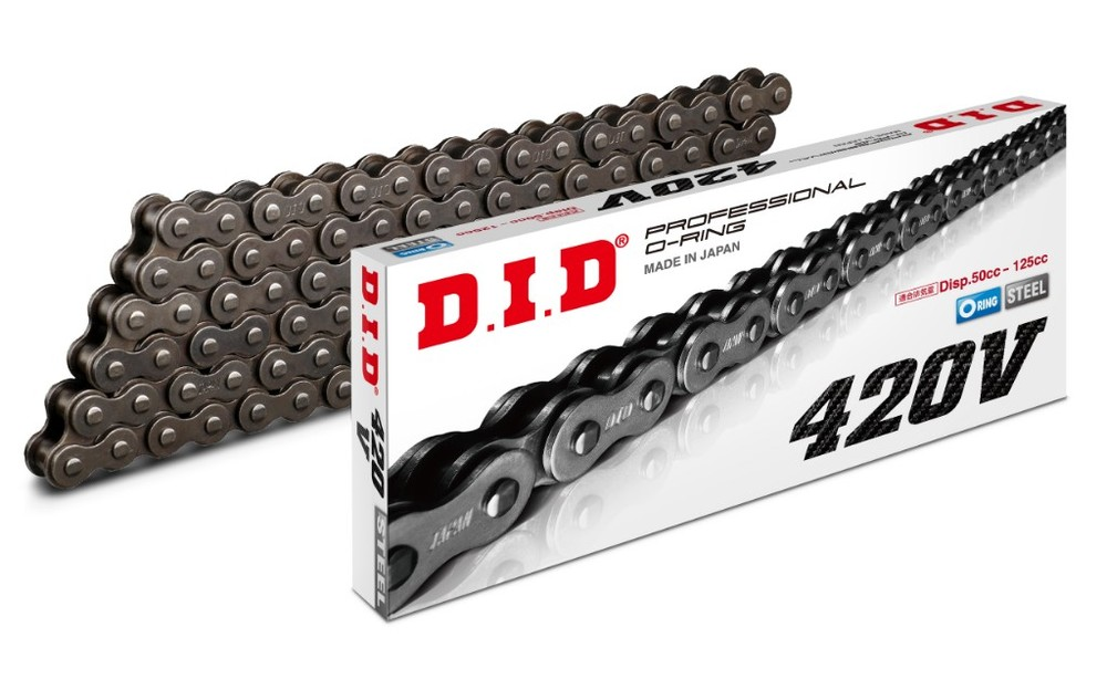 DID ダイドー Vシリーズチェーン 420V スチール 【クリップ(RJ)ジョイント付属】 リンク数:156