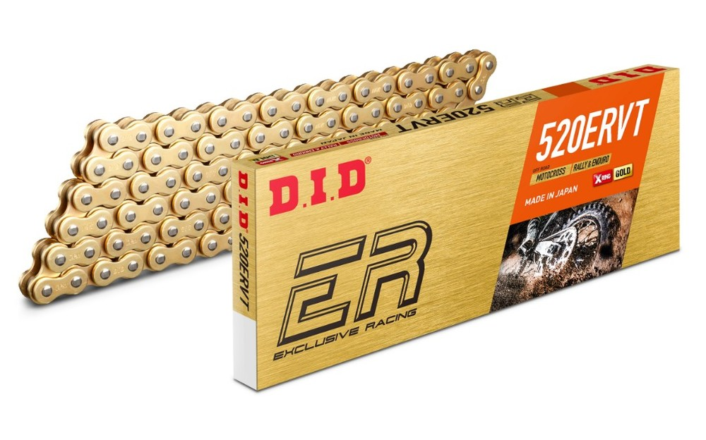 DID ダイドー ERシリーズチェーン 520ERVT ゴールド 【軽圧入クリップ(FJ)ジョイント付属】 リンク数:148