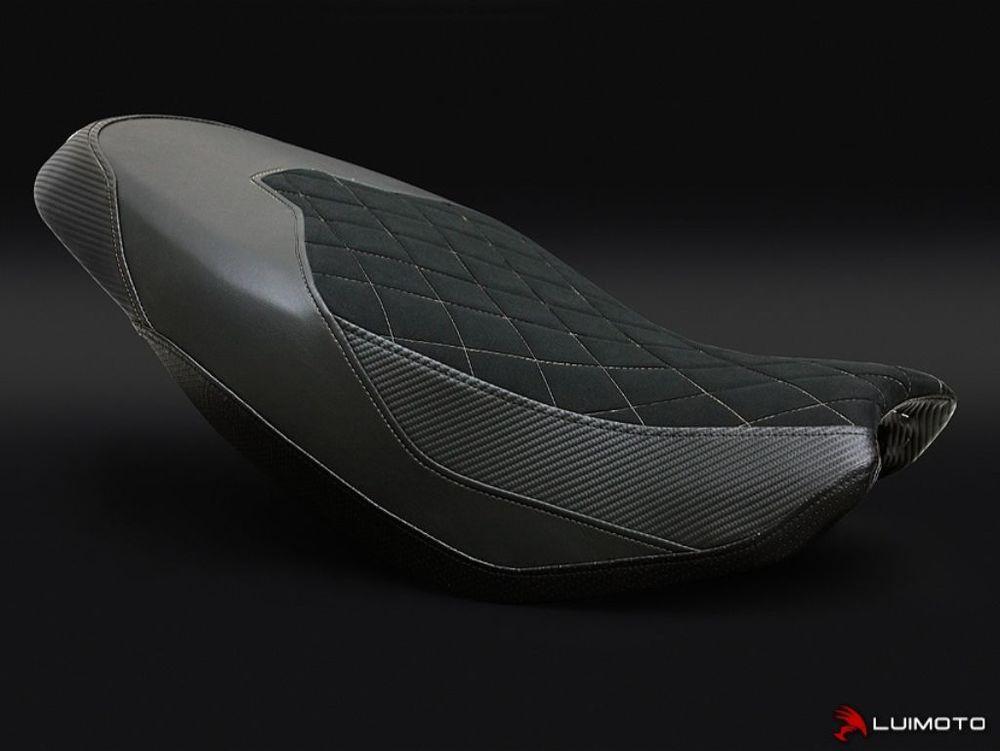 LUIMOTO ルイモト その他シートパーツ フロントシートカバー カラー:スウェード/ブラックステッチ/ブラック/CFブラック/ブラック SCRAMBLER