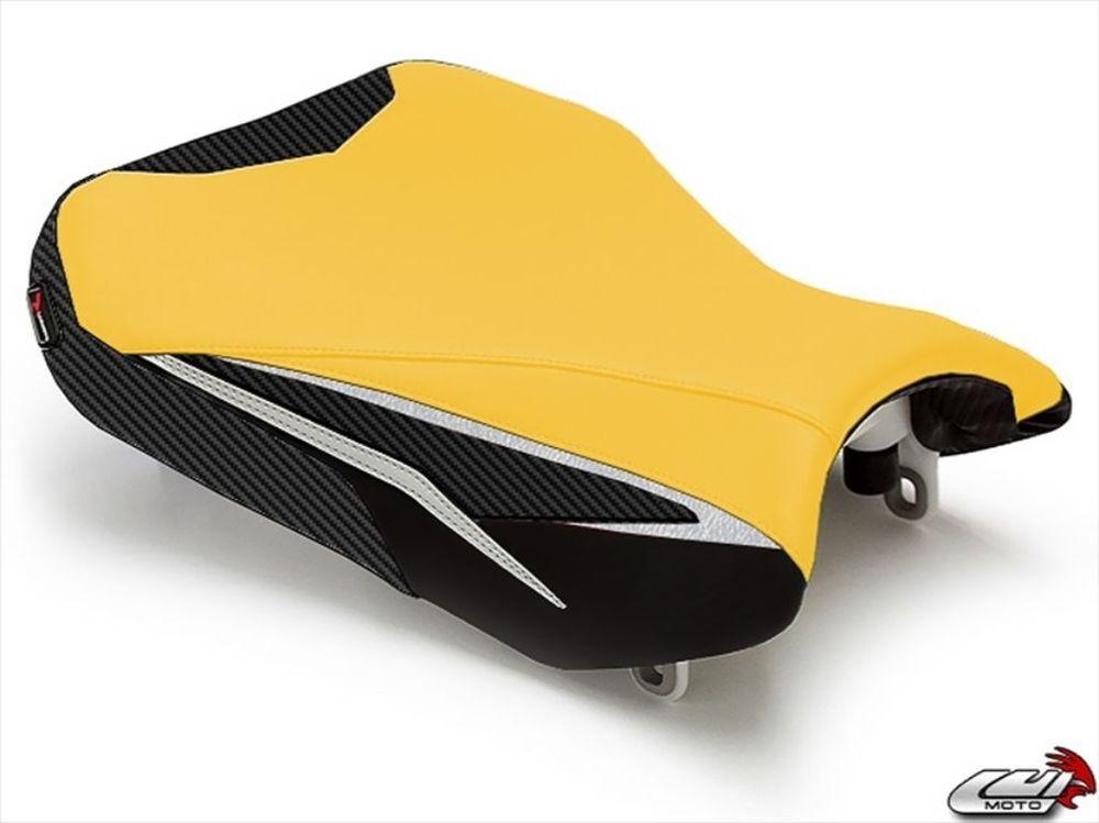 LUIMOTO ルイモト その他シートパーツ フロントシートカバー カラー:CFブラック/ディープイエロー/ブラック/シルバー GSX-R600 GSX-R750