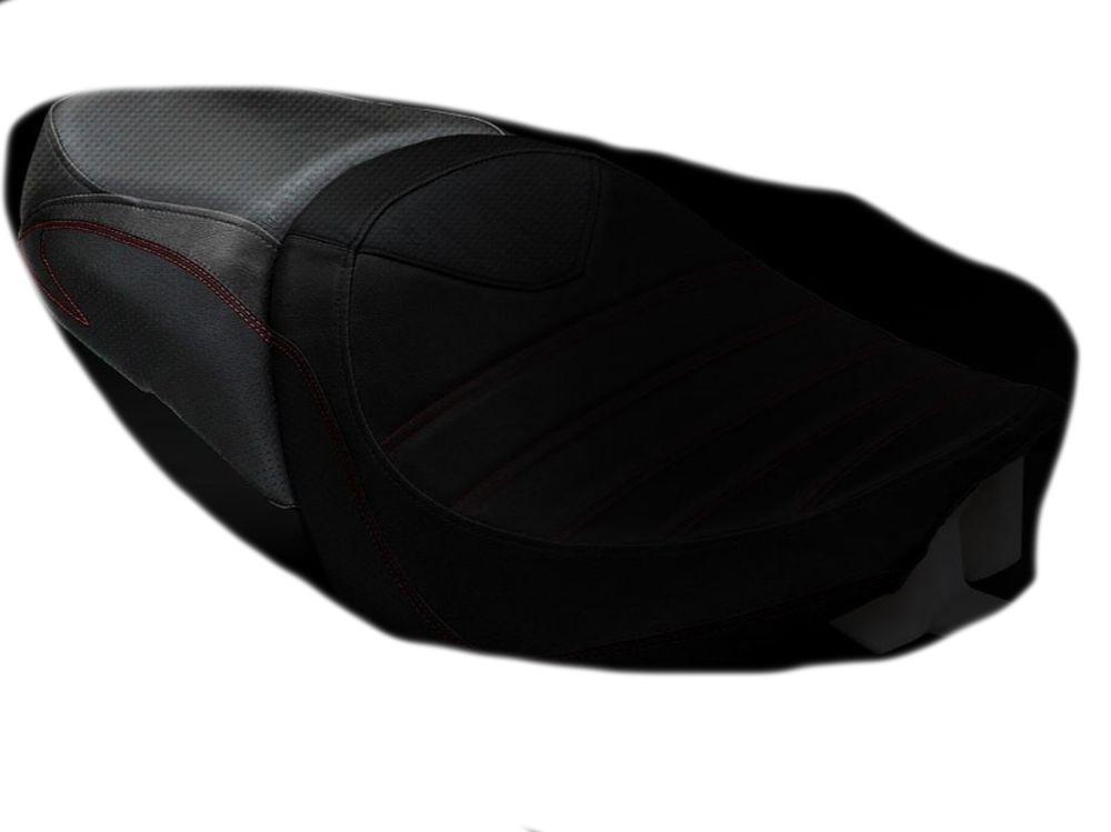 LUIMOTO ルイモト その他シートパーツ リアシートカバー カラー:ブラック/ビンテージブラック/レッドステッチ BOULEVARD M109R