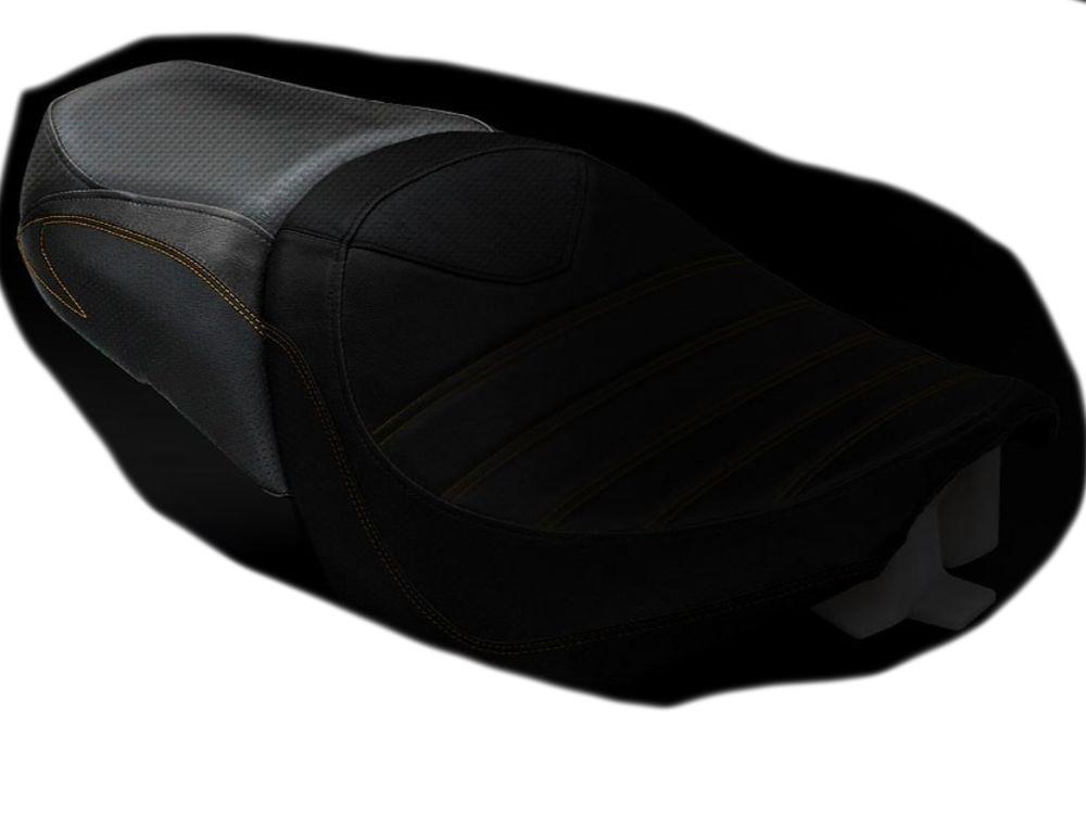 LUIMOTO ルイモト その他シートパーツ リアシートカバー カラー:ブラック/ビンテージブラック/オレンジステッチ BOULEVARD M109R