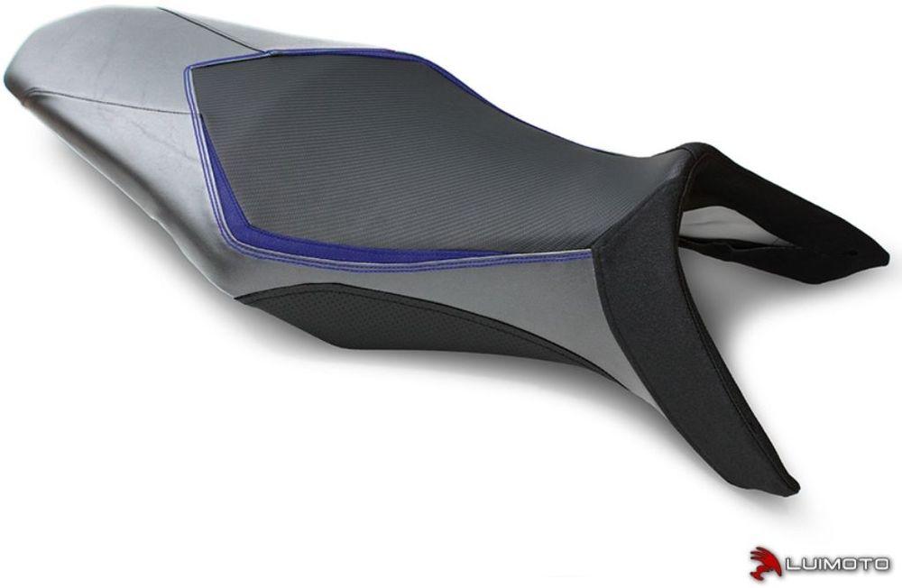 LUIMOTO ルイモト その他シートパーツ フロントシートカバー カラー:ディープブルー/シルバー/ブルーステッチ/ブラック MT-09