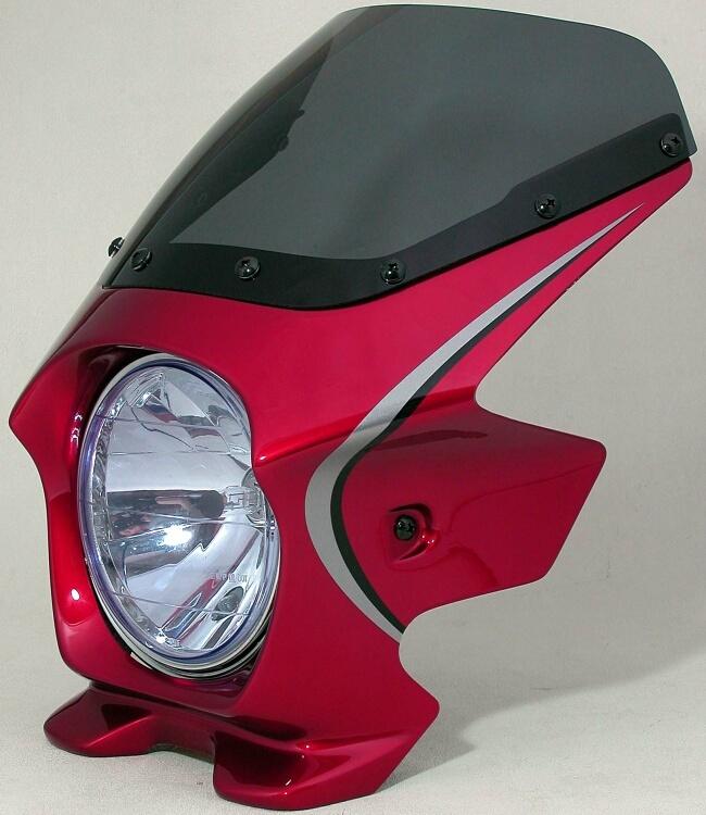 N PROJECT Nプロジェクト エヌプロジェクト ビキニカウル・バイザー ブラスターII エアロスクリーン カラー:パールミルキーホワイト(ストライプ) カラーコード:NH-162P CB1100
