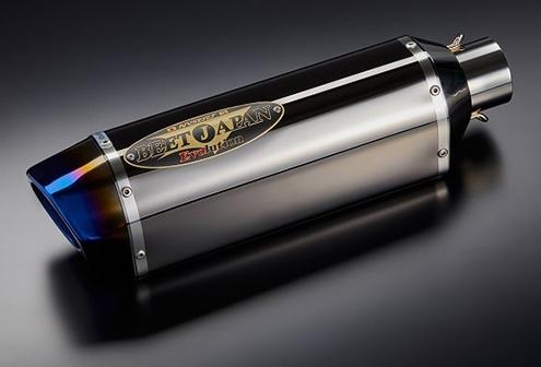 BEET ビート バッフル・消音装置 R-Evo TypeII 汎用 サイレンサー 350 サイレンサータイプ:メタルブラック(シロエンブレム)