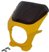 World Walk ワールドウォーク ビキニカウル・バイザー ビキニカウル カラー:バナナイエロー スクリーンカラー:スモーク タイプ:タイプR形状 モンキー125