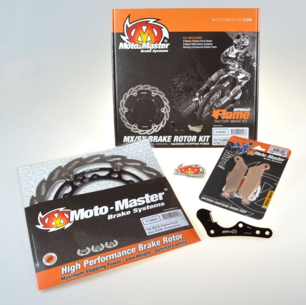 MOTOMASTER モトマスター オーバーサイズ270mmフロントフレイムブレーキ強化キット(アルミインナー) CRF250 CRF250R CRF250RX CRF450 CRF450R CRF450RWE CRF450RX