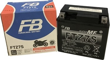 【在庫あり】古河バッテリー FB FTZ7S 12V高始動形制御弁式 (シール形MF) バッテリー (FTシリーズ) XL230 クレアスクーピー ジョルノクレア スマートディオ ズーマー ディオ(4サイクル) バイト ホーネット250 12V車両