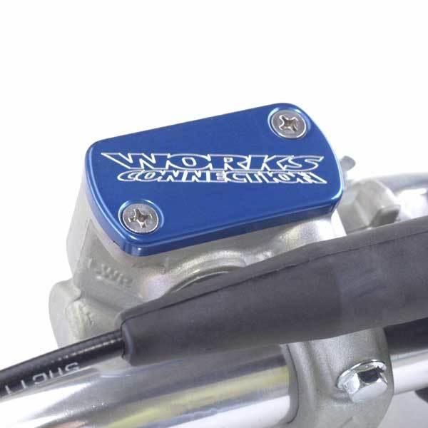 WORKS CONNECTION ワークスコネクション マスターシリンダー ブレーキリザーバーキャップ カラー:ブルー 03/DRZ400R