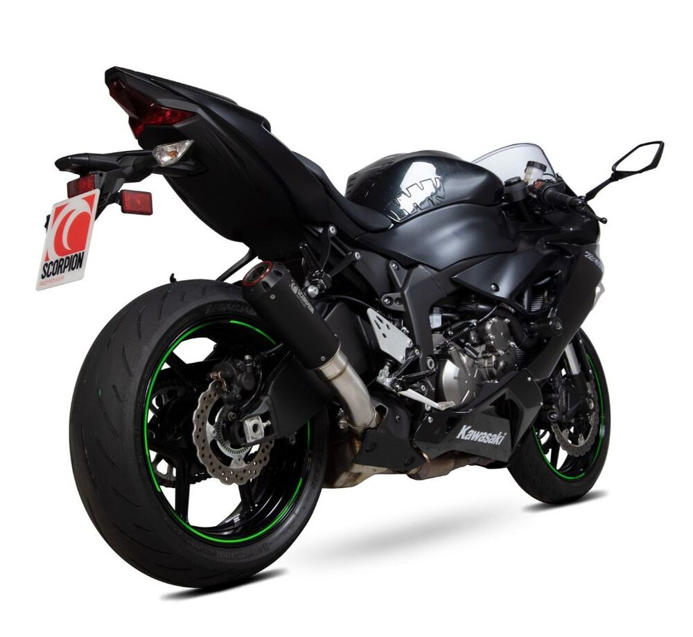 SCORPION スコーピオン レッドパワー スリップオンマフラー タイプ:ブラックセラミックコート 重量:2kg (STD:4.8kg) Ninja ZX-6R