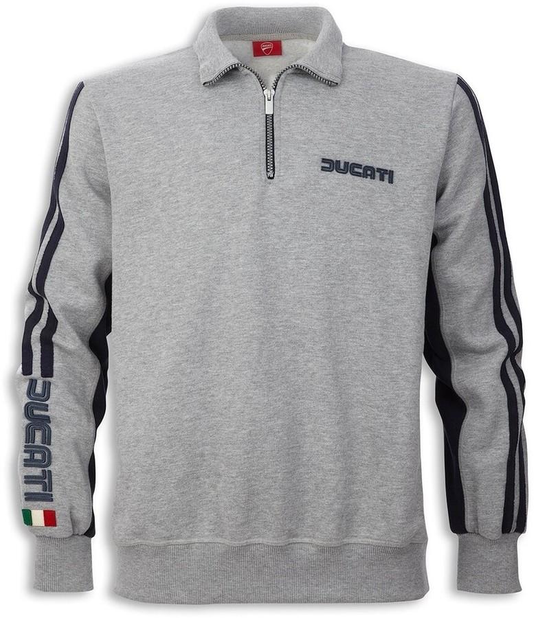 DUCATI Performance ドゥカティパフォーマンス カジュアルウェア 80s ハーフジップスウェットシャツ サイズ:S