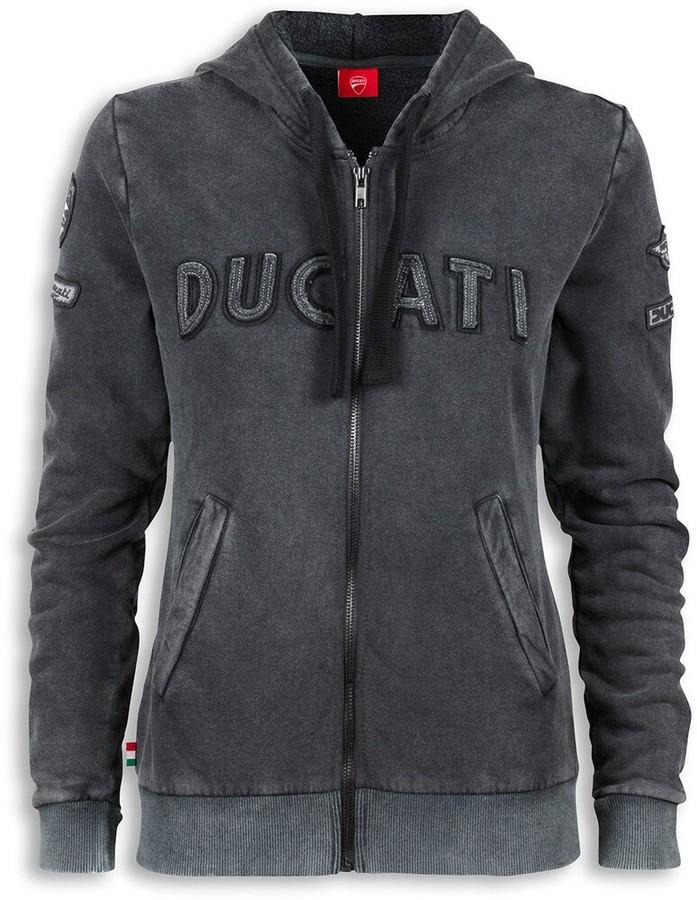 DUCATI Performance ドゥカティパフォーマンス ヒストリカル レディース フード付きスウェットシャツ