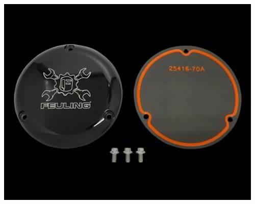 Neofactory ネオファクトリー その他エンジンパーツ FEULING ギアクロスロゴ ダービーカバー3穴 カラー:ブラック DYNAファミリー SOFTAILファミリー TOURINGファミリー