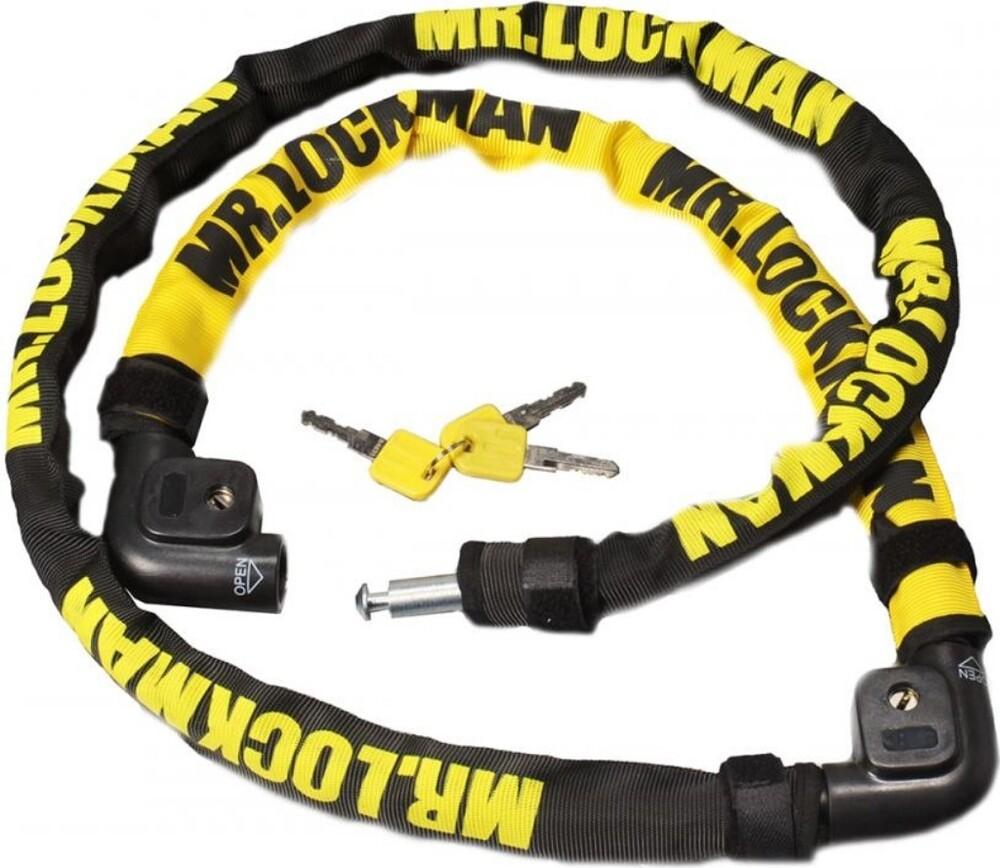 MR.LOCKMANミスターロックマン ワイヤーロック ML-114 ドッキングロック ミニ イエロー 秀逸 カラー:ブラック MR.LOCKMAN 蔵 ミスターロックマン