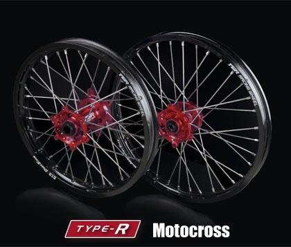 【祝開店!大放出セール開催中】 TGR TECHNIX GEAR ティージーアールテクニクスギア TYPE-R Motocross(モトクロス)用ホイール(前後セット) CR250 CRF450R, 甲良町 3e26eb80
