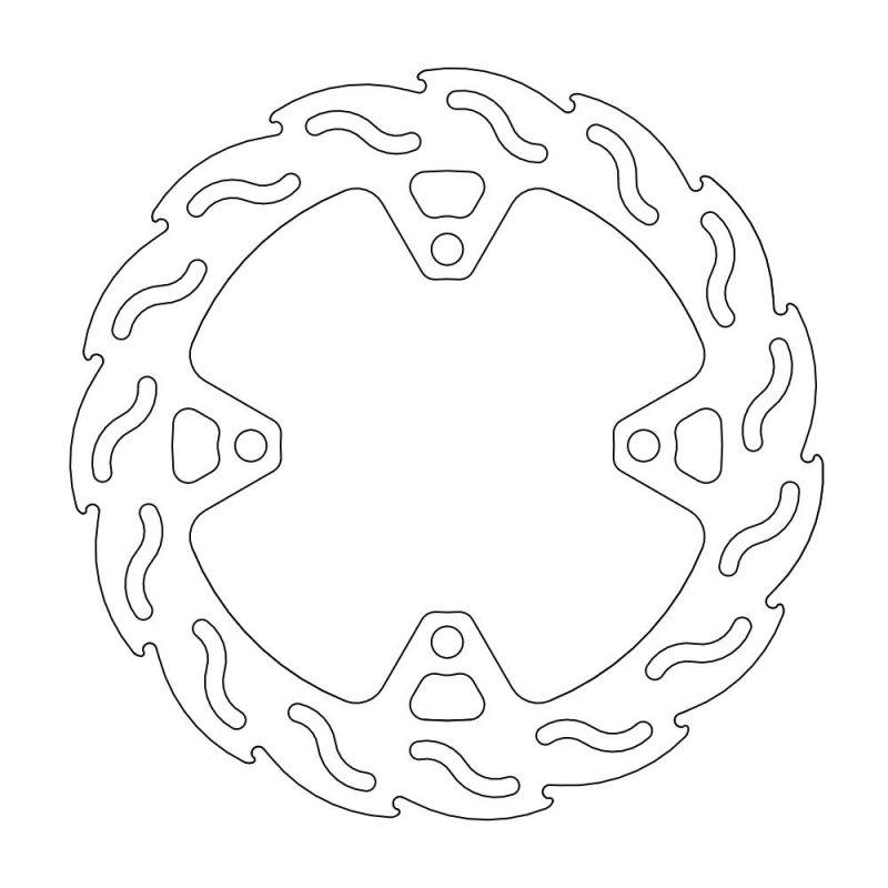 MOTOMASTER モトマスター フレイム ステンローター リア用 ZRX1200 DAEG 09-16/Z1000 07-16/Z750