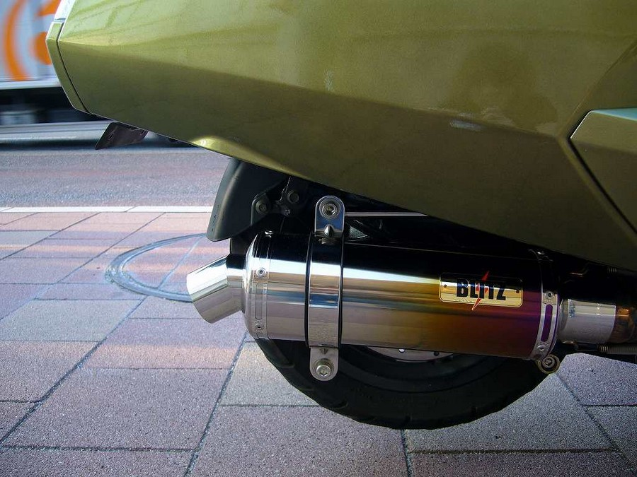 KOTANI MOTORS コタニモータース フルエキゾーストマフラー MAXAM用 BLITZ ブリッツマフラーSチタングラデーション MAXAM [マグザム] SG21J
