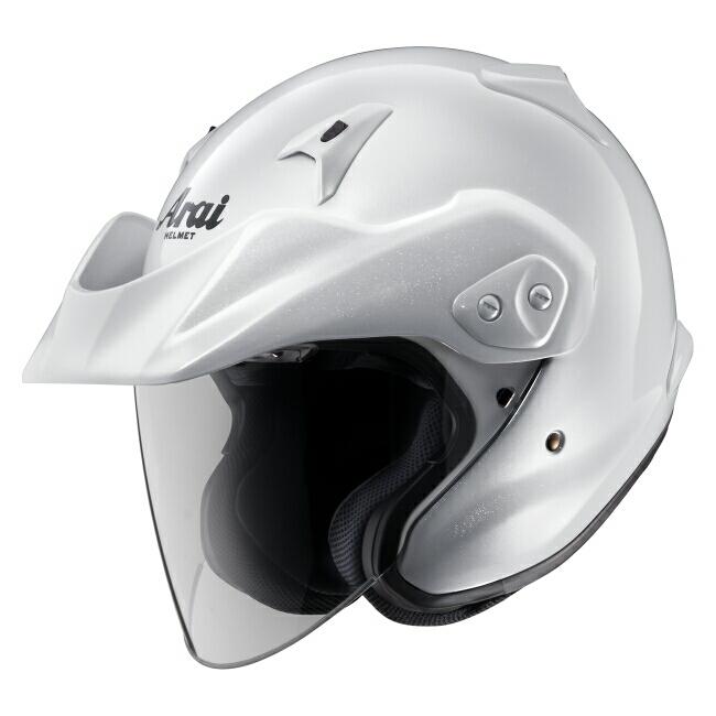 Arai アライ ジェットヘルメット CT-Z [シーティーゼット グラスホワイト] ヘルメット サイズ:XL(61-62cm)