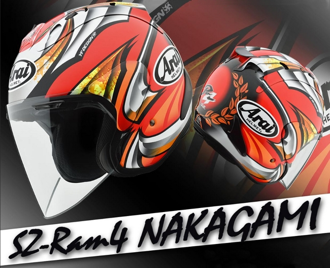 【在庫あり】Arai アライ ジェットヘルメット SZ-RAM4 NAKAGAMI [エスゼット ラム4 ナカガミ] ヘルメット サイズ:M(57-58cm)