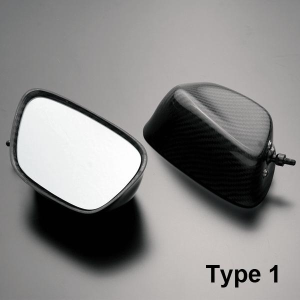 A-TECH エーテック カーボンミラーヘッド Type-1