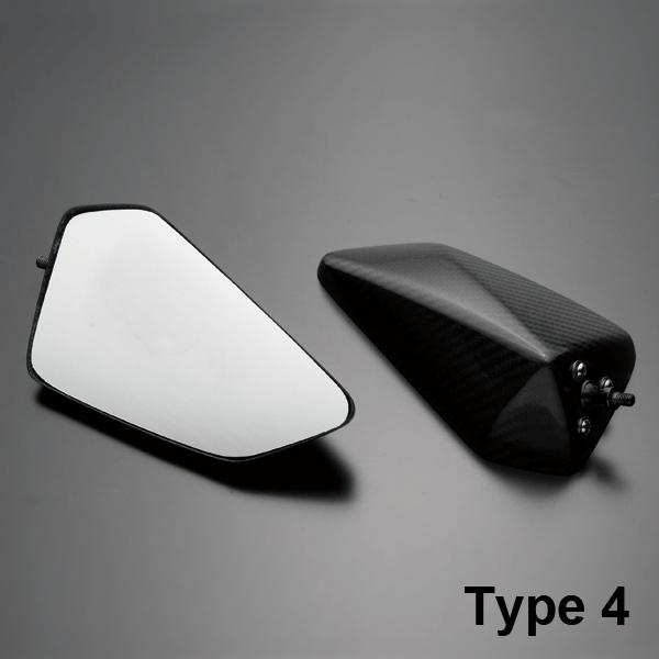 A-TECH エーテック カーボンミラーヘッド Type-4