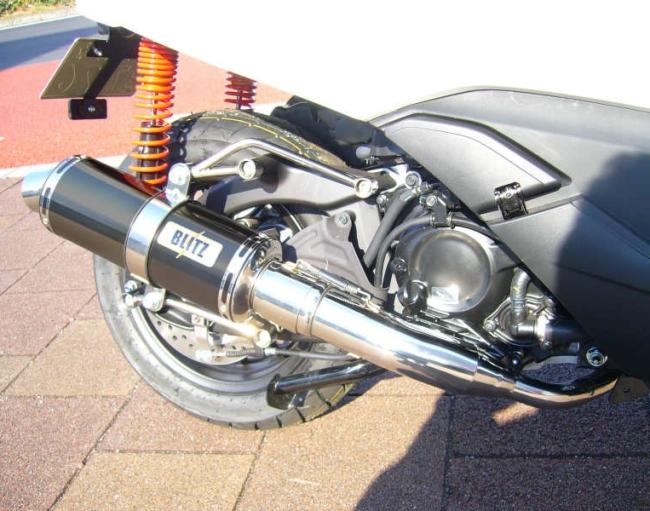 KOTANI MOTORS コタニモータース FORZA Si(MF12)用 BLITZブリッツマフラーS ブラックメタル FORZA-Si [フォルツァ] (MF12)