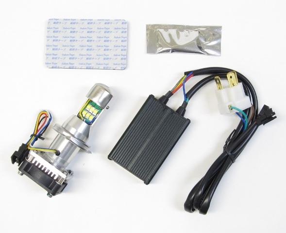 PROTEC プロテック 各種バルブ サイクロンLEDヘッドライトバルブキット ショートヒートシンクタイプ(型式:LB4-R/バルブ形状:H4R Hi/Lo/全長:107.5mm) CBR250RR (MC22) RVF400 VFR400R