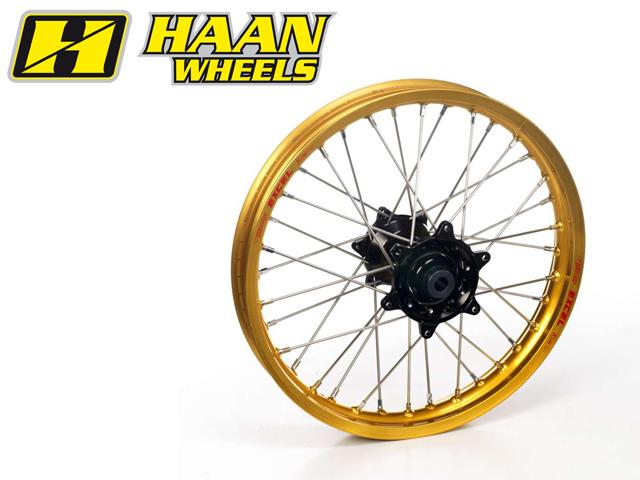HAAN WHEELS ハーンホイール ホイール本体 リアオフロードコンプリートホイール R1.85/19インチ カラー:イエロー カラー:ゴールド YZF250 (09-14)
