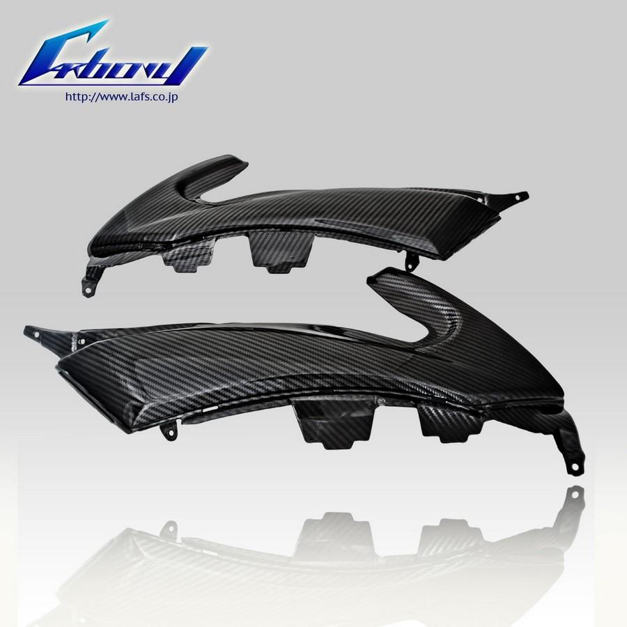 Carbony カーボニー サイドカバー ドライカーボン サイドパネル 仕上げ:ツヤ有り 仕様:ブロックカーボン T-MAX 2012-2015