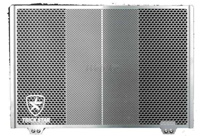 【在庫あり】【イベント開催中!】 TRICK STAR トリックスター ラジエターコアガード 表面仕上げ:ステンレスシルバー Z1000 (水冷) Z800 ニンジャ1000 (Z1000SX) ヴェルシス1000