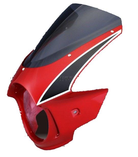 Force-Design フォルスデザイン ビキニカウル・バイザー ビキニカウル エンデュランススクリーン カラー:キャンディブレイジングレッド スクリーンカラー:スモーク CB400SF VTEC II 02