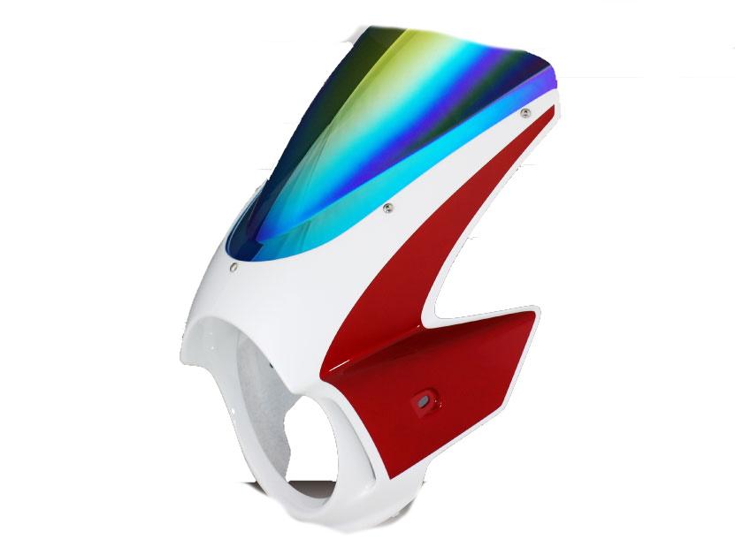Force-Design フォルスデザイン ビキニカウル・バイザー ビキニカウル エンデュランススクリーン カラー:スパークリングシルバーメタリック スクリーンカラー:ミラー CB1000SF 92-97