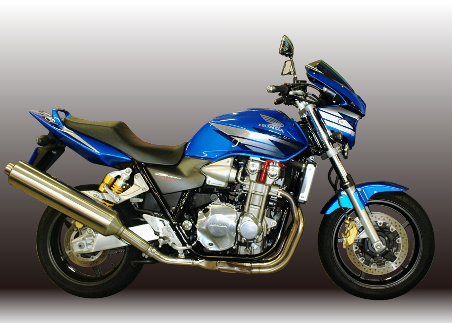 Force-Design フォルスデザイン ビキニカウル・バイザー ビキニカウル スプリントスクリーン カラー:パールヘロンブルー スクリーンカラー:ミラー CB1300SF (SC54) 03-