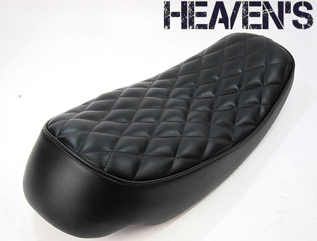 HEAVENS ヘブンズ シート本体 キャニオンシート ダイヤ シートカラー:ブラック パイピングカラー:ホワイト (受注生産) 低反発シート:あり (受注生産) SR400 SR500