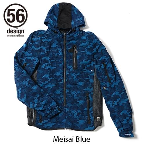 56design 56デザイン ライディングジャケット S-Line Cotton Parka WD [Sライン コットン パーカー] サイズ:M