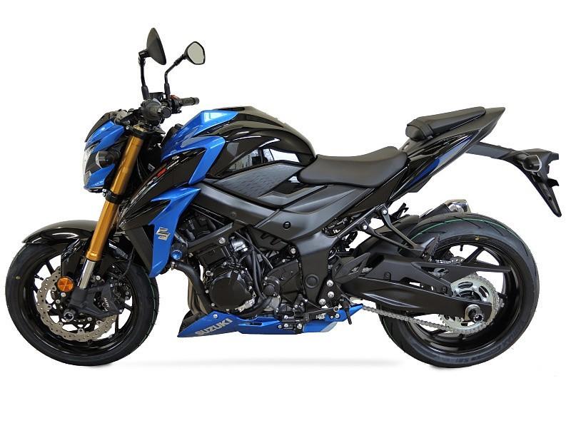 RDmoto アールディーモト ガード・スライダー クラッシュプロテクター【Crash protectors】 Colour:black polyamid Colour:blue aluminium anodized GSX-S 750 2017-