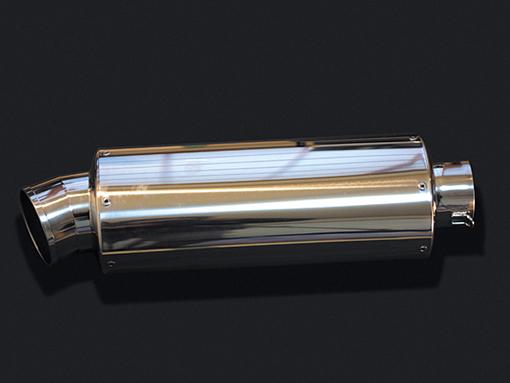 HOT LAP ホットラップ バッフル・消音装置 汎用サイレンサー オーバル中 サイズ:差込内径Φ76.3 タイプ:パンチングプレート入り 長さ:300mm