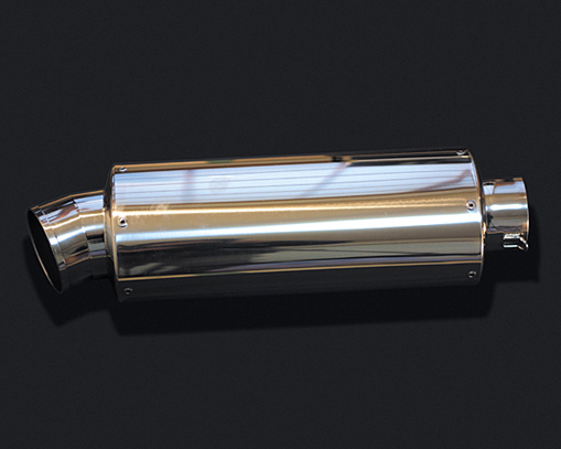 HOT LAP ホットラップ バッフル・消音装置 汎用サイレンサー オーバル中 サイズ:差込内径Φ76.3 タイプ:ストレート構造 長さ:450mm