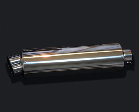 HOT LAP ホットラップ バッフル・消音装置 汎用サイレンサー スタック サイズ:差込内径Φ60.5 タイプ:ストレート構造 長さ:300mm