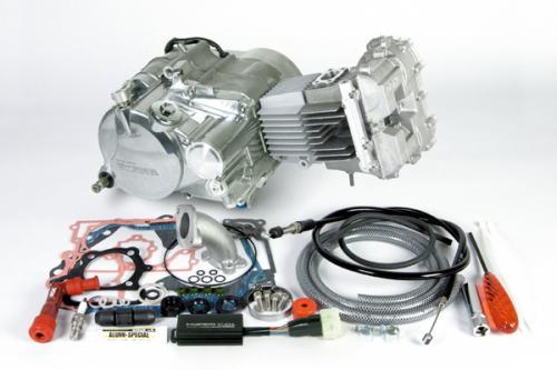SP武川 SPタケガワ エンジンCOMP DOHC4V+Dコンプリートエンジン100cc(セカンダリー式) CRF50F CRF70F XR50R(競技用) XR70R ゴリラ モンキー
