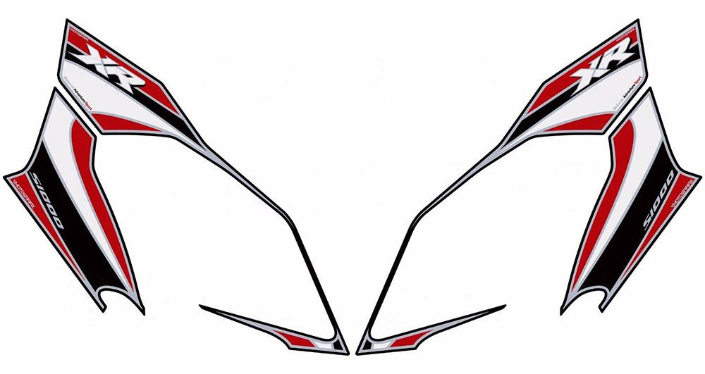 MOTOGRAFIX モトグラフィックス ステッカー・デカール タンクパッド カラー:レッド/ブラック/ホワイト S1000XR 15-17