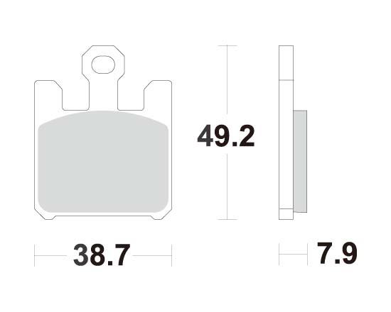 ACCOSSATO アコサット ブレーキパッド AGPA37 GSX-R1000 ZX-6R ZX-6RR ZX-10R ZX-12R VULCAN Mean Streak 1600 [ミーンストリーク]