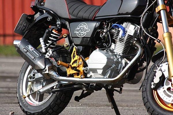 WRRP ダブルアールアールピー フルエキゾーストマフラー フルエキゾーストシステム HartFord mini 125用