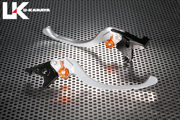 U-KANAYA ユーカナヤ ツーリングタイプアルミビレットレバーセット アジャスターカラー:チタン レバーカラー:シルバー CB1100 CB1100 EX