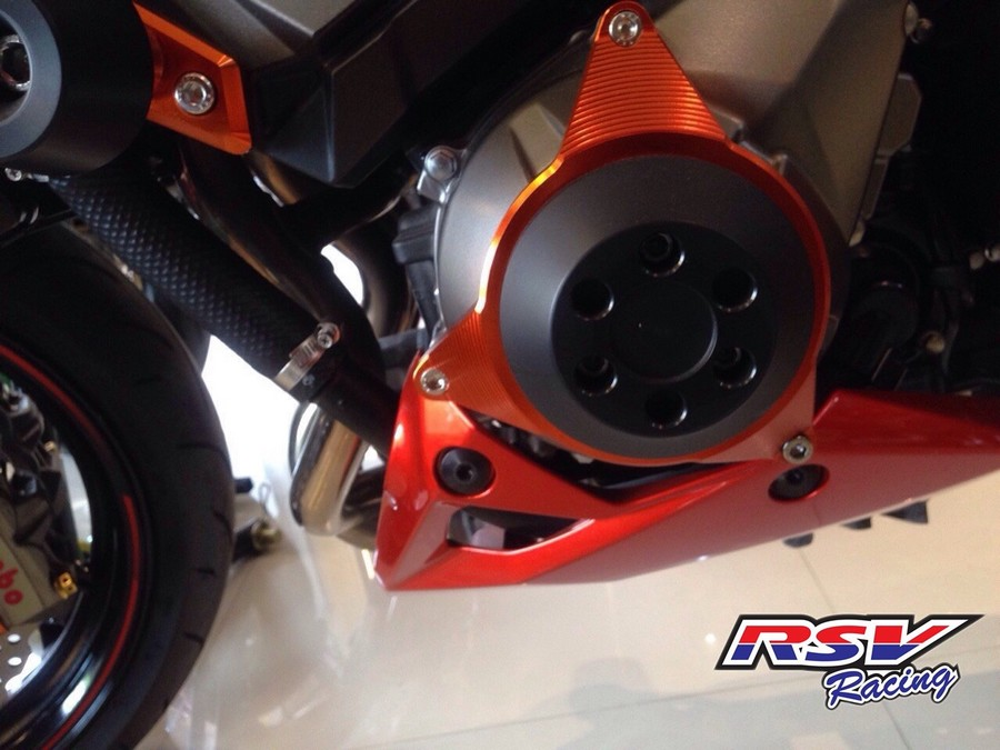 RSV racing アールエスブイレーシング ガード・スライダー エンジンスライダー Z800用 カラー:orange Z800 allyear
