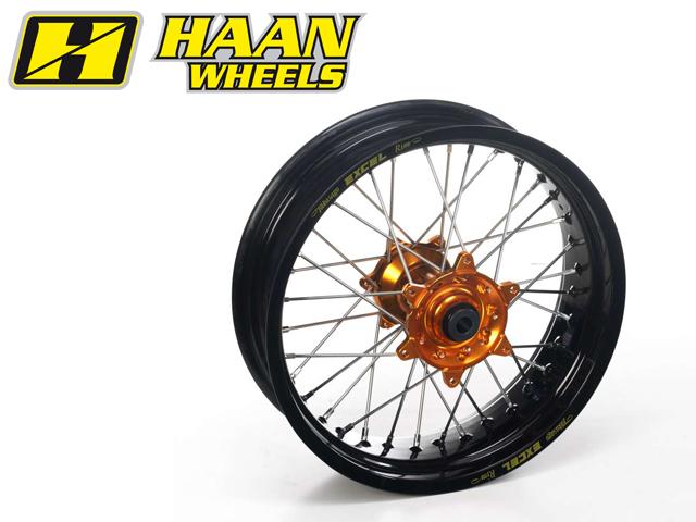 HAAN WHEELS ハーンホイール ホイール本体 リアモタードコンプリートホイール R5.00/17インチ カラー:イエロー カラー:ブラック G450X (09-10)