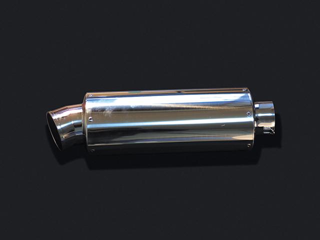HOT LAP ホットラップ バッフル・消音装置 汎用サイレンサー オーバル大 サイズ:差込内径Φ76.3 タイプ:パンチングプレート入り 長さ:400mm