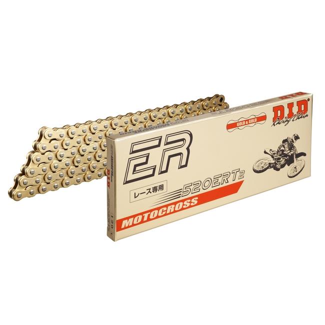 DID ダイドー ERシリーズチェーン 520ERT2 ゴールド 【カシメ(ZJ)ジョイント付属】 リンク数:160